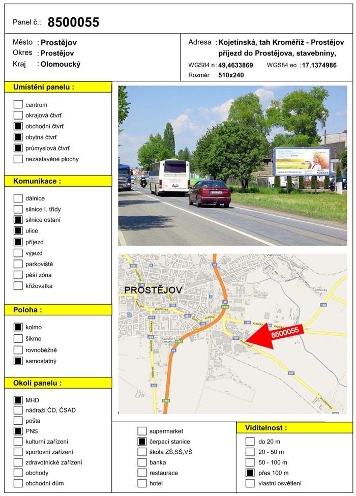Billboard, Prostějov, Kojetínská