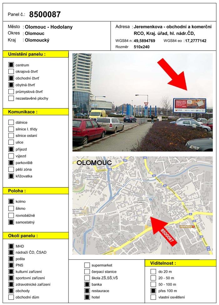 Billboard, Olomouc, Jeremenkova