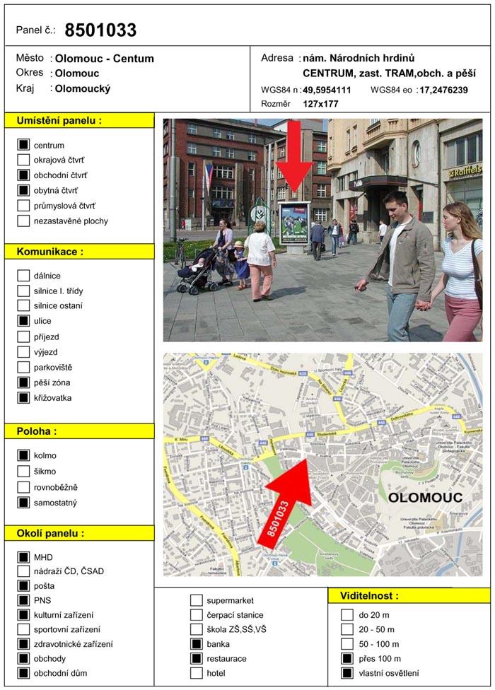 Scroll, Olomouc, náměstí Hrdinů