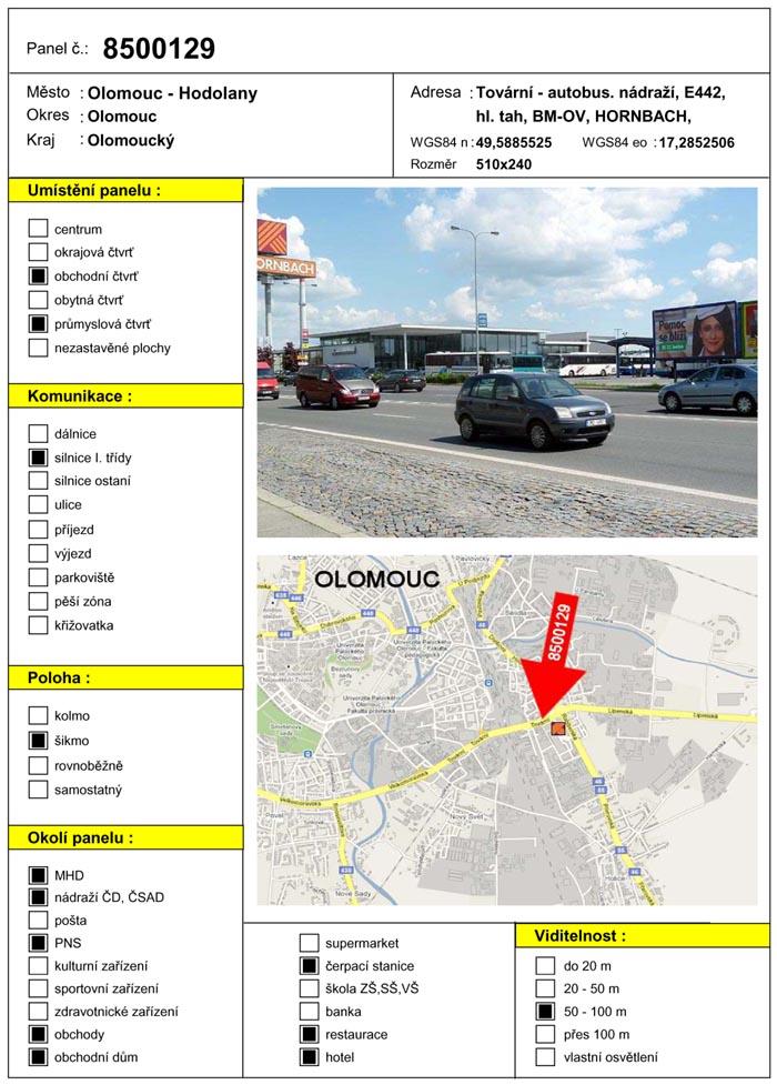 Billboard, Olomouc, Tovární