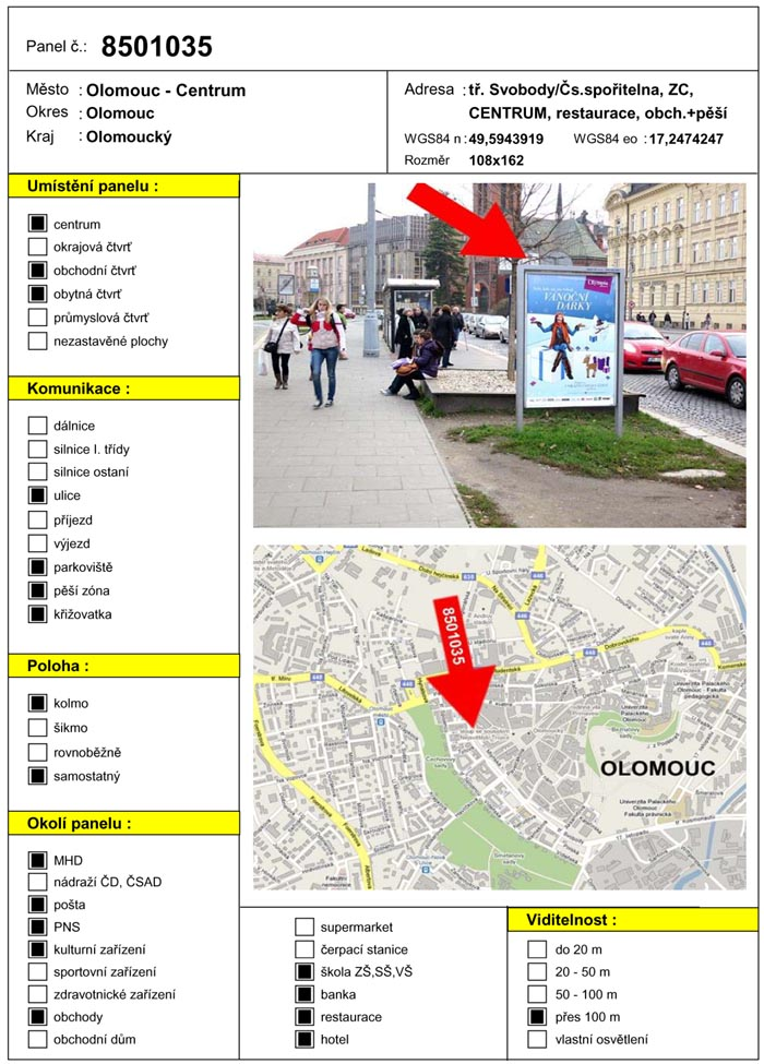 Cityboard, Olomouc, tř. Svobody (Česká spořitelna)