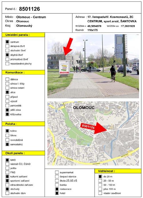 Citylight, Olomouc, Palackého/Poetingova