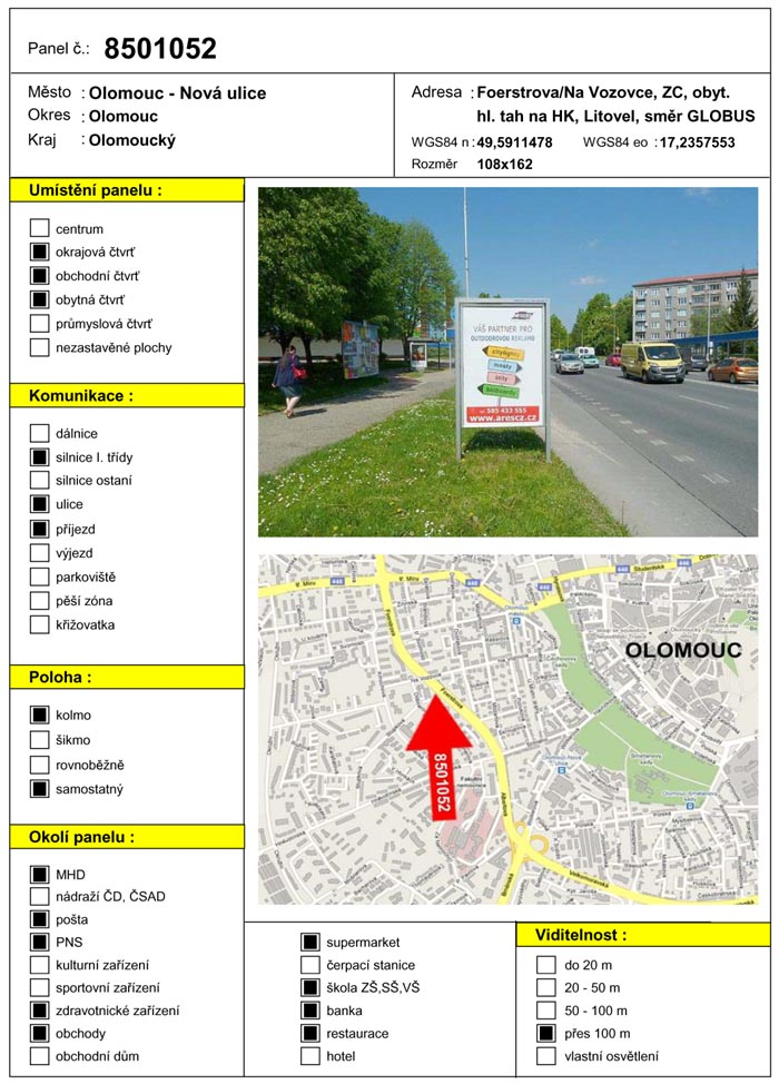 Cityboard, Olomouc, Foerstrova/Na Vozovce