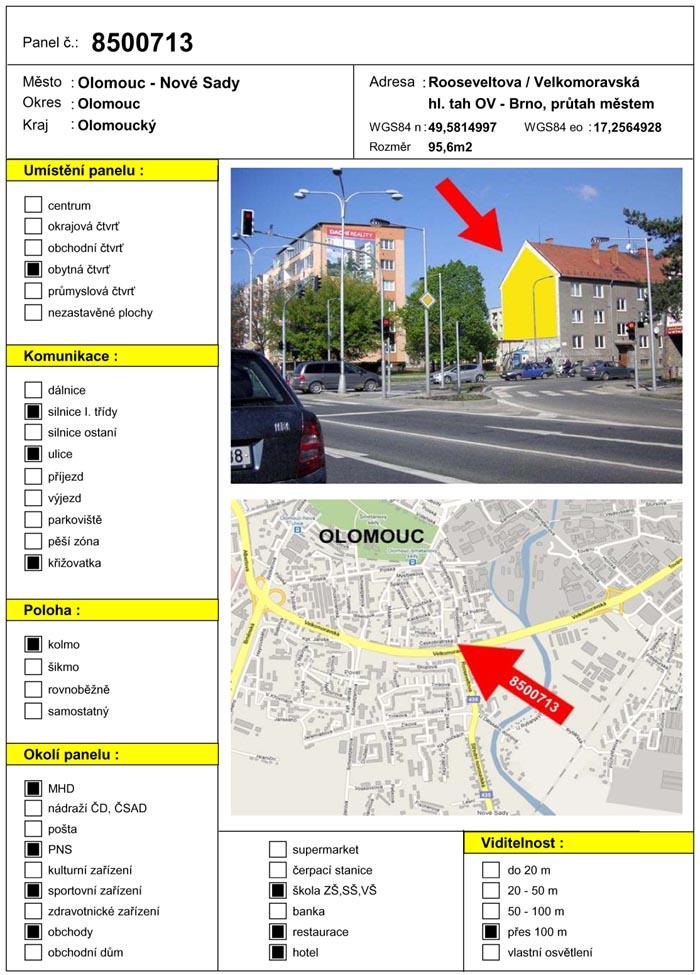 Š, Olomouc, Velkomoravská/Rooseveltova