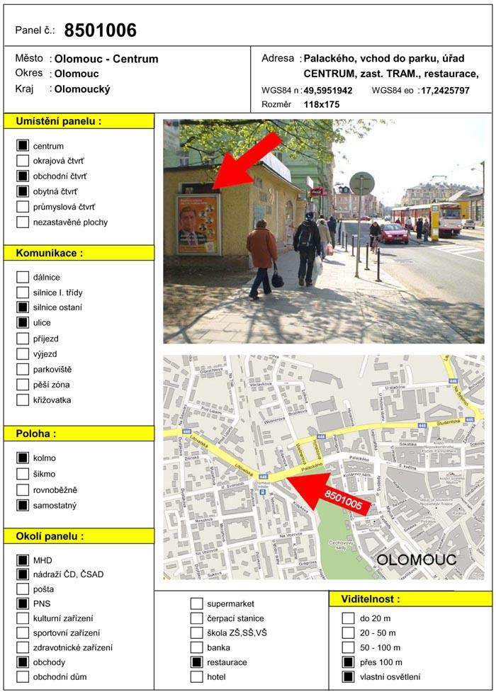 Citylight, Olomouc, Palackého