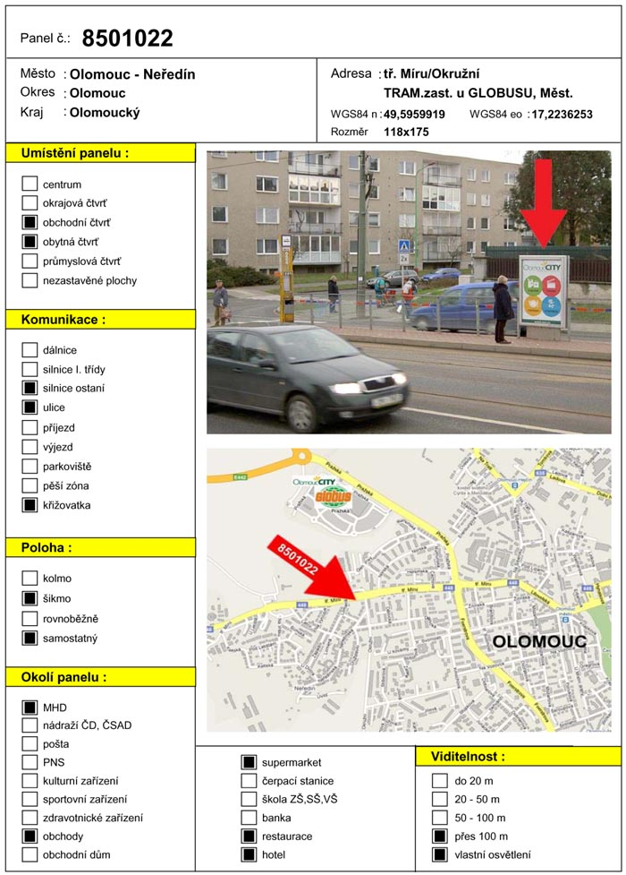 Citylight, Olomouc, tř. Míru