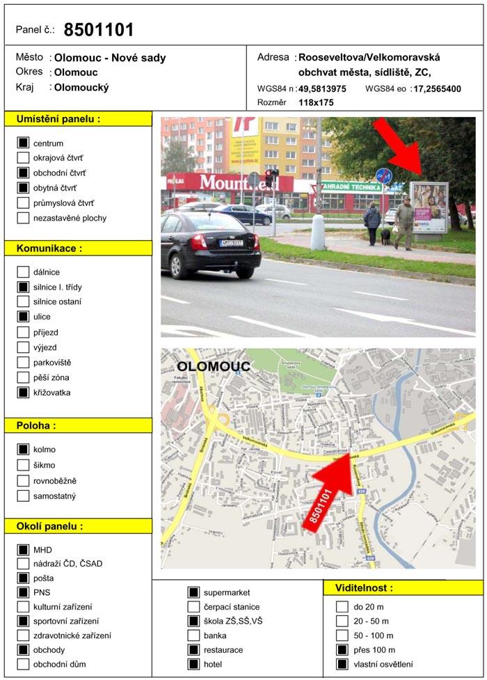 Citylight, Olomouc, Rooseveltova