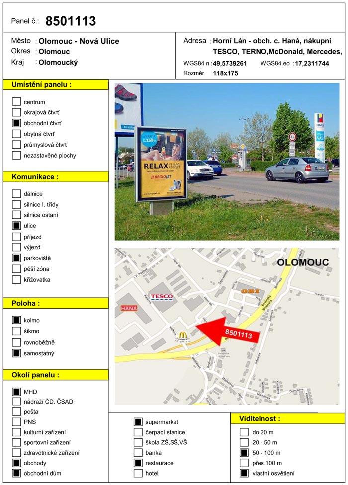 Citylight, Olomouc, Horní lán