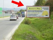 Billboard, Olomouc, Velká Bystřice, výjezd od MAKRA