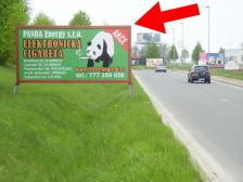 Billboard, Olomouc, Velká Bystřice, příjezd k MAKRU